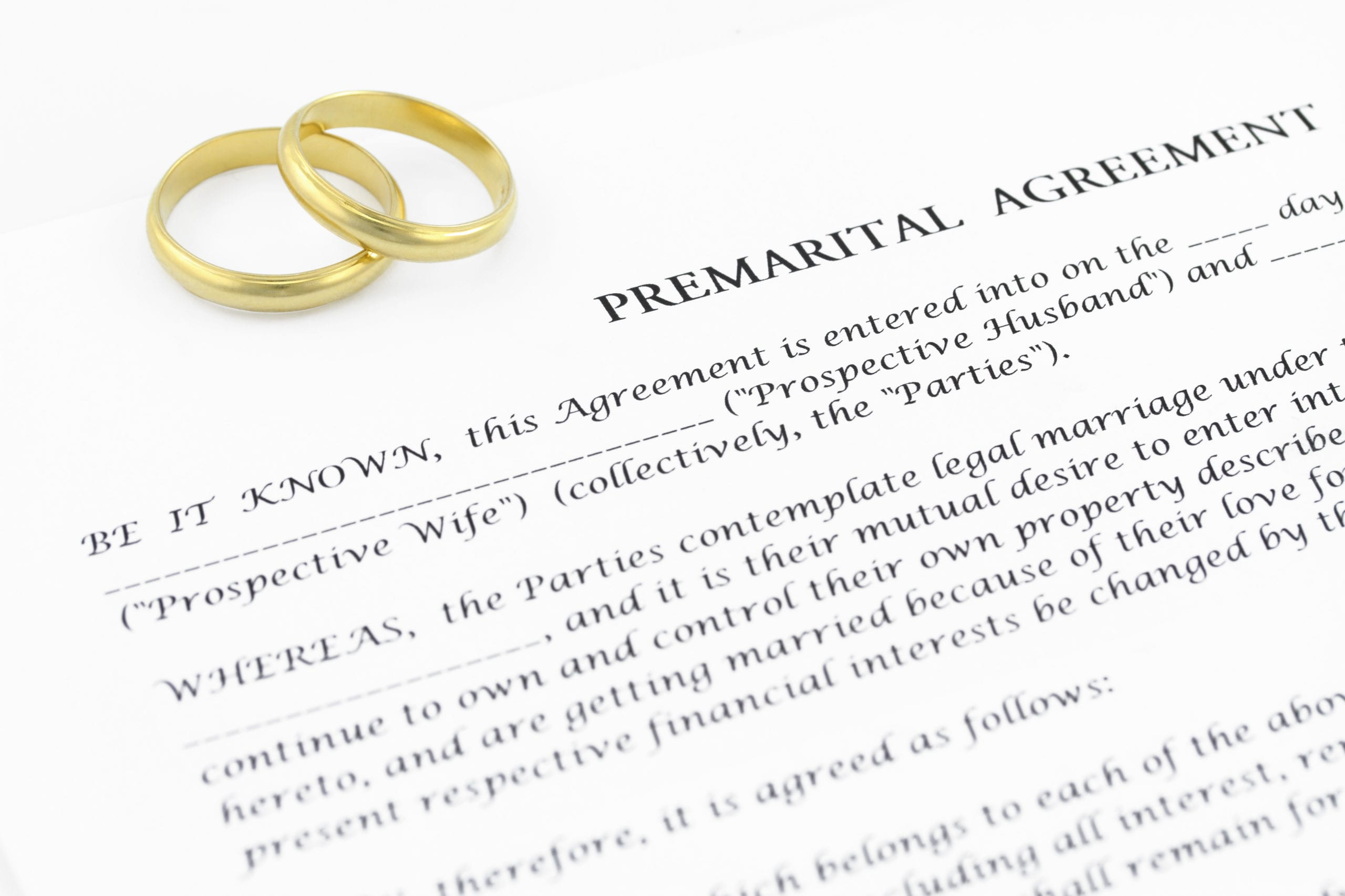 Prenuptial Agreements Increase Among American Couples
